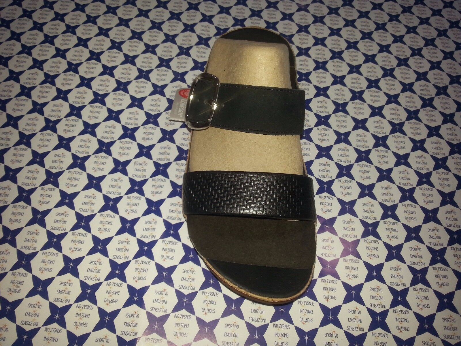 Ciabatta Slide Donna FitFlop -- Stack Slide Ciabatta Fasce Fibbia Nera -- A84001 615 c95173