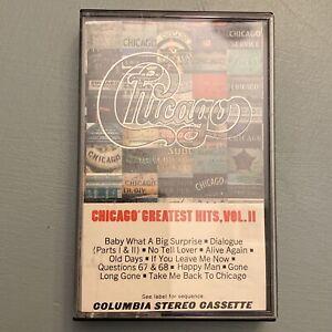 Chicago Greatest Hits Vol II 2 1981 Hard Classic Rock Roll Cassette Tape Pop
