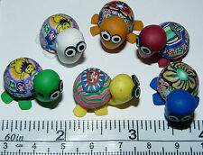 5 Fimo Turtle Beads / Components. Very Cute!  5 pc lot Free Shipping in USA!