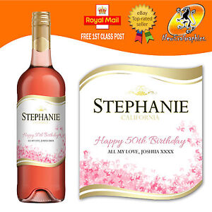 PERSONALISED-ROSE-WINE-BOTTLE-LABEL-BIRTHDAY-ANY-OCCASION-GIFT
