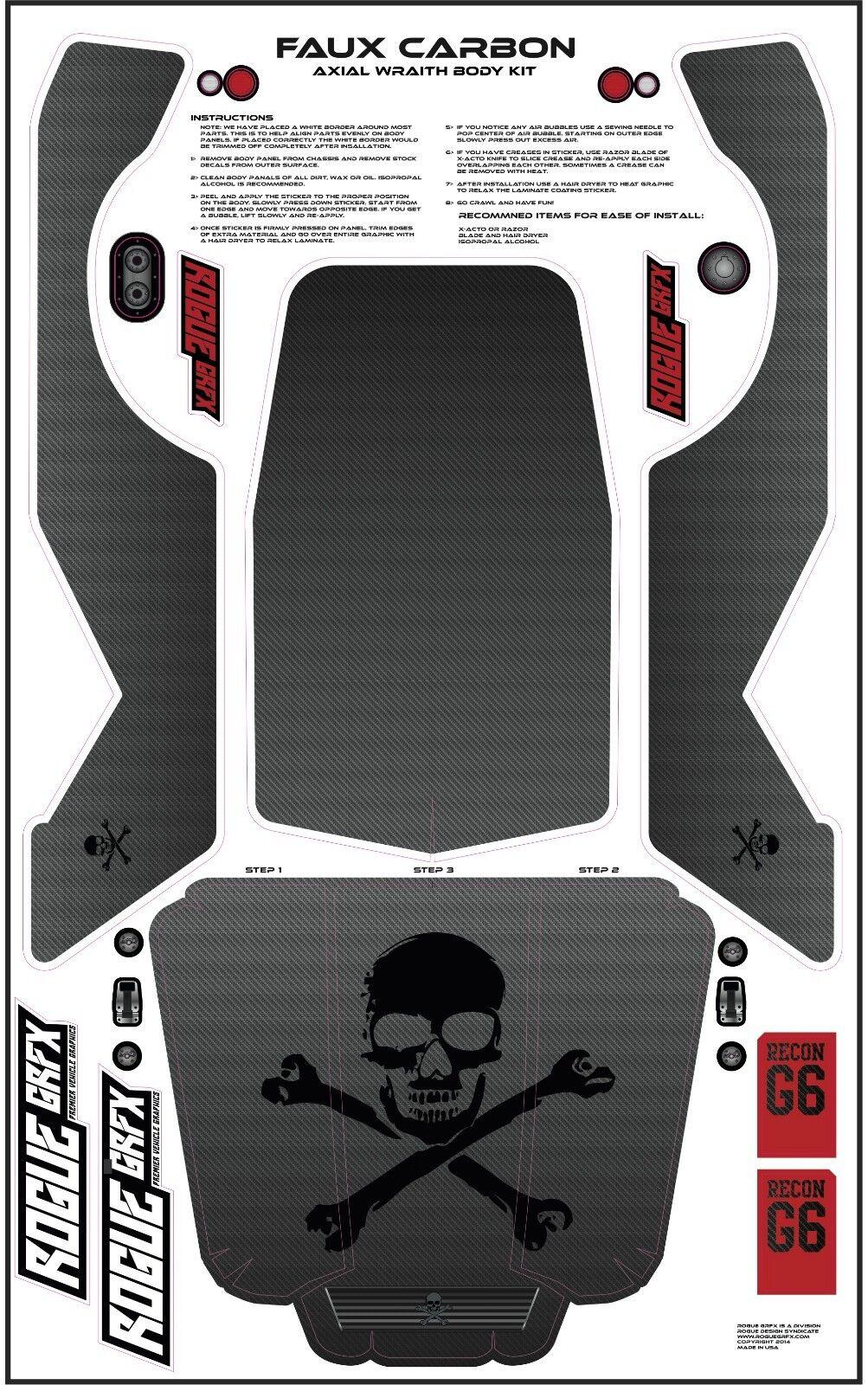 Axial Wraith Graphic Graphic Graphic Wrap- Faux Carbon e4959c