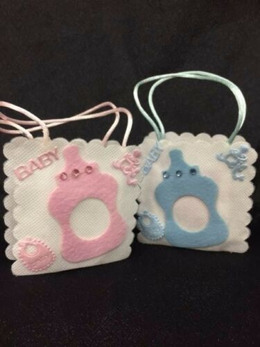 24 pieces of baby bottle cut-out favor pouches baby shower favors