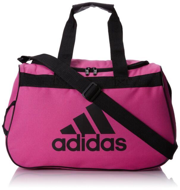 Adidas Diablo Small Duffel Women Solar Pink Black Gym Bag Luggage Fits In Locker