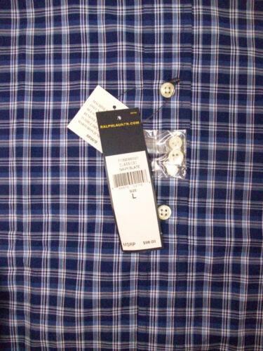 Polo Ralph Lauren Plaid Lightweight LS Oxford Shirt $98-125 Green Blue  Pony NWT
