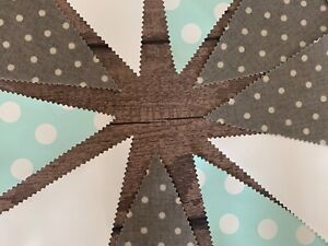 Outdoor Bunting Decor Oilcloth Handmade Grey Star White Teal Bee