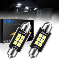 6 Smd White 6411 Led Interior Bulbs For Dome Map Trunk License Plate Light 36mm
