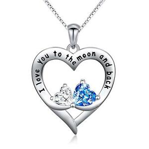 0bee499ae7d4d Details about [ANNIVERSARY GIFTS FOR WIFE GIRLFRIEND WOMEN HER] DOUBLE LOVE  HEART NECKLACE