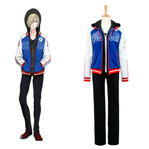 Yuuri!! on Ice Yuri Plisetsky Uniform Costume Sportswear Jersey Jacket Only New
