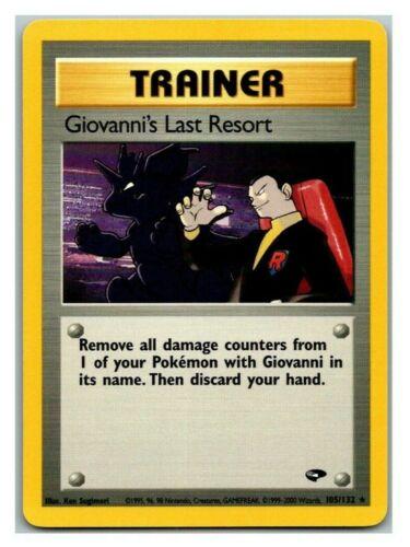 Giovanni's Last Resort 105/132 Gym Challenge Pokemon Card LP Cond #
