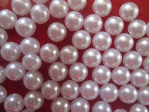 200 Perlen 8mm weiß Halbperlen Tischdeko Rund Dekoperlen Wachsperlen Elegante PL