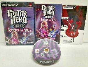Guitar Hero Encore Rocks 80s - PS2 Playstation 2 COMPLETE Game 1 Owner Mint Disc