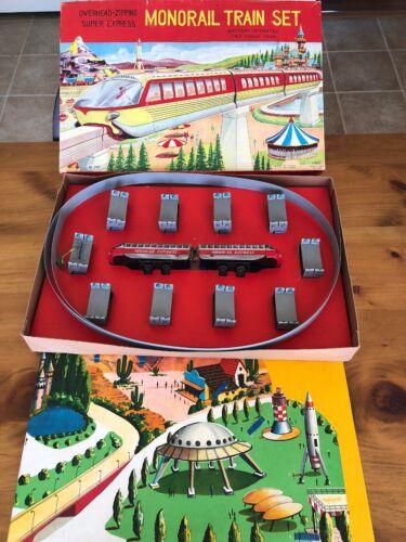 Alle Artikel in Elektrisches Spielzeug Rare HAJI Battery Operated Tin Monorail Train Set Japan 2806