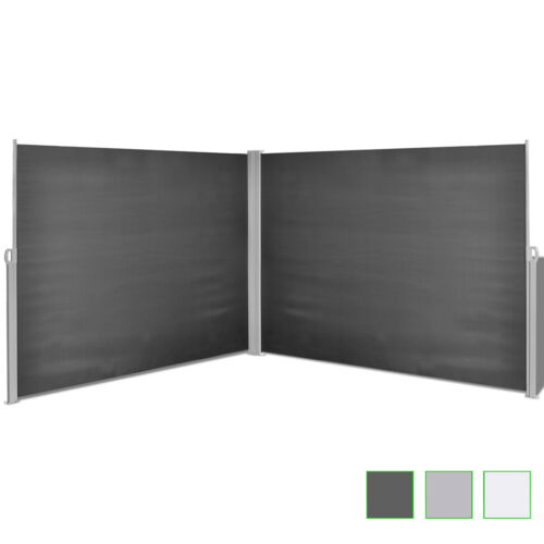 Garden Sunshade Blind Retractable Side Awning Outdoor Screen 2 Sizes 3 Colours