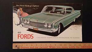 1960-FORD-Prestige-Color-Catalog-Sales-Brochure-Excellent-condition