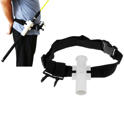 Fishing Rod Pole Holder Holster Adjustable Waist Rod Holder Fishing Belt