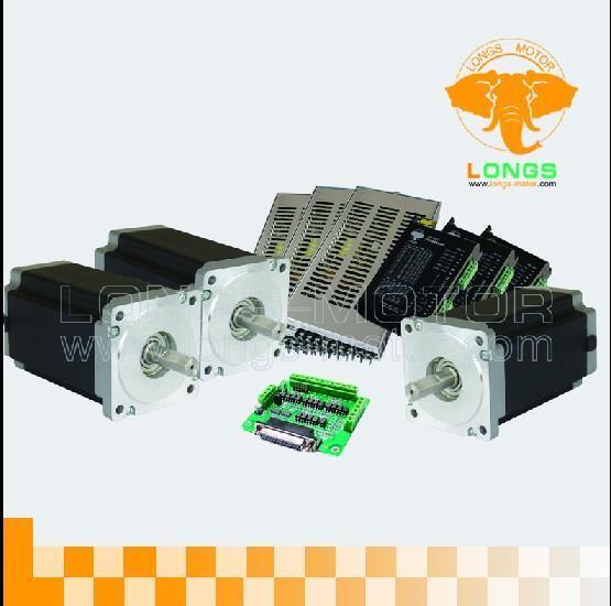 Free Ship 3Axis Nema34 Stepper Motor 1232oz.in 5.6A/&Driver CNC kit Mill