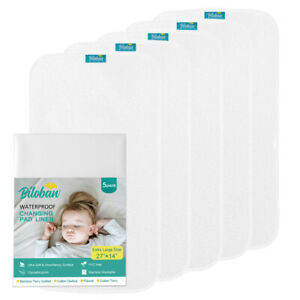 Infant-Soft-Cotton-Terry-Baby-Diaper-Changing-Pad-Cover-Liner-Waterproof-5-Pack