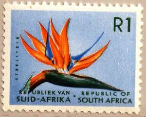 RSA Sudafrica South Africa 1973 440 esenzione Marchio Paradiso uccelli Fiore Fiore Flower **