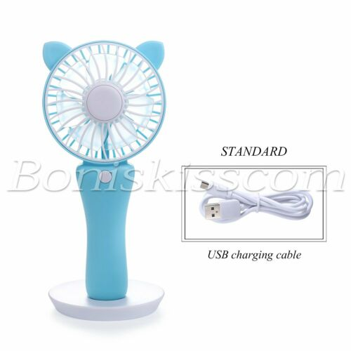 Handheld Mini Fan Double Sided Magnetic Makeup Mirror Summer Beauty Makeup Tools