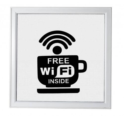 Wifi gratuit vinyle autocollant pour mur de windows shop restaurant autocollants chambre 10 x 11 cm
