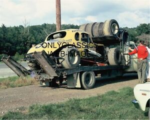1967-PETE-COREY-CRESCENT-HILLBILLY-MODIFIED-CAR-ON-HAULER-8X10-PHOTO-AUTO-RACING