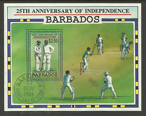 BARBADOS-1991-CRICKET-Independence-Souv-Sheet-FINE-USED