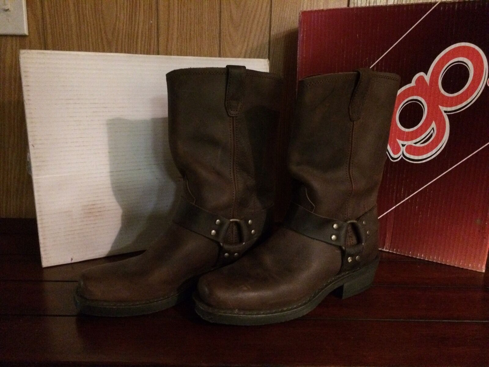 Dingo Dingo Dingo Brown Leather Boots size 10 d87039
