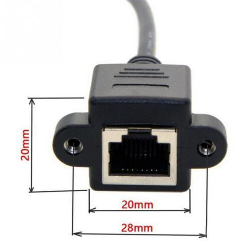 RJ45 Cat 6 macho a hembra Cable de extensión de red Ethernet LAN con montaje del panel