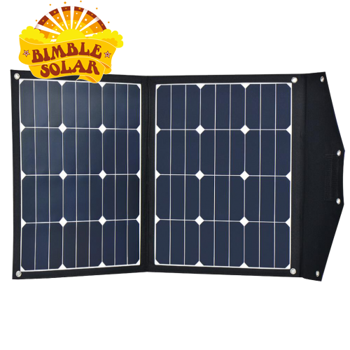 12V 110W portable folding solar panel - built in waterproof charge controller -