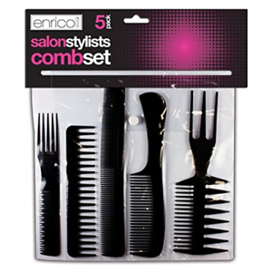 5-Salon-Comb-Hairdressing-Wide-Tooth-Detangler-Hair-Brush-Style-Combs-Set