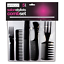 5-Salon-Comb-Hairdressing-Wide-Tooth-Detangler-Hair-Brush-Style-Combs-Set miniatura 1