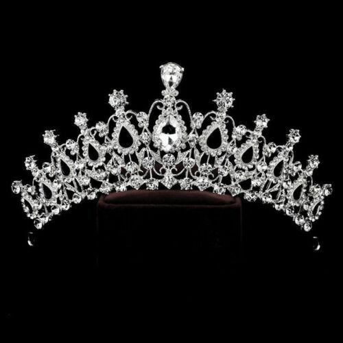 Wedding Bridal Crystal Rhinestone Hair Headband Crown Comb Tiara Prom Pagea K2D2