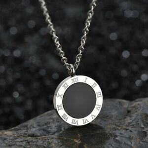Kette-Necklace-Roemische-Ziffern-Zahlen-Bulgarien-Luxus-Edelstahl-Silber-Numbers