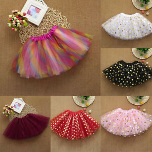 Girls Kids Tutu Party Dance Ballet Toddler Baby Costume Dot Print Skirts Clothes
