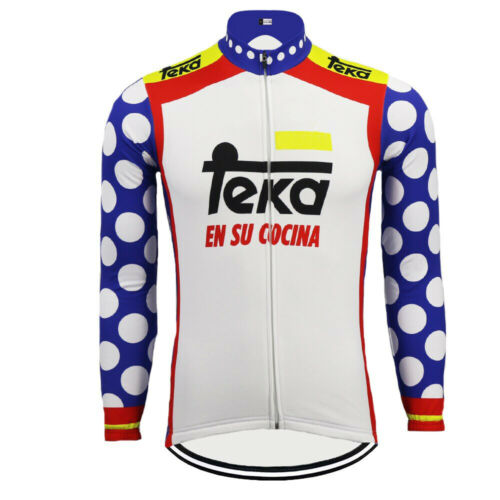 Retro Team Teka Long Sleeve Vintage Cycling Jersey