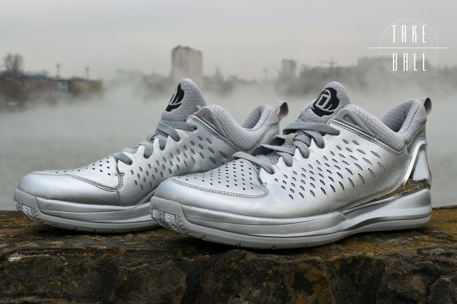 adidas D Rose 3 Low G59800 The Bean Silver White Gray Chrome Basketball DS RARE