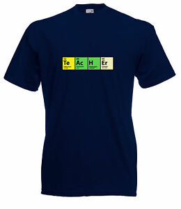 THE BIG BANG THEORY INSPIRED PERIODIC TABLE 'TEACHER' HIGH QUALITY GEEKY T SHIRT