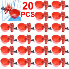 20 Packs Poultryquail Water Drinking Cups Chicken Hen Plastic Automatic Drinker