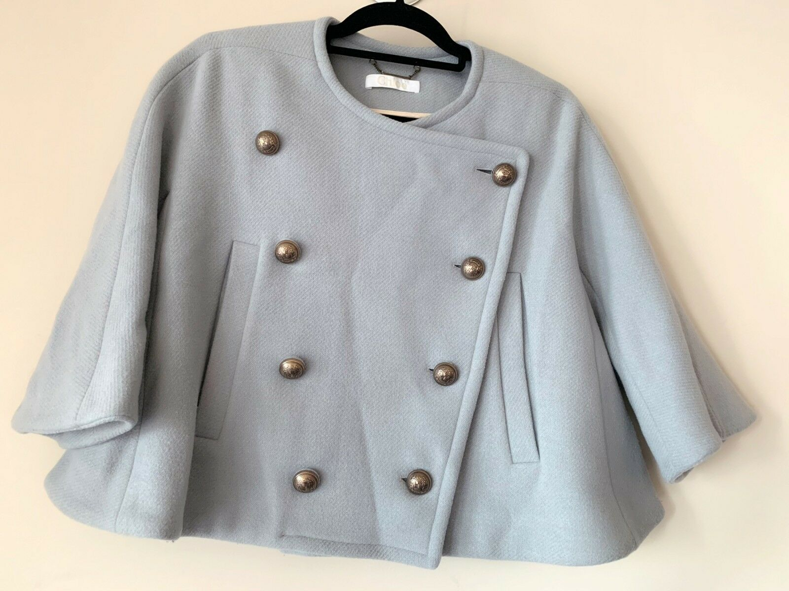 AUTH Chloe Double Breasted Wool Coat SIZE 34