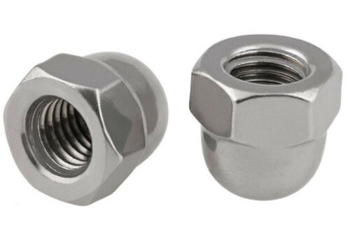 3//16 UNC 304 Stainless 8#-32 10# 1//4 5//16 3//8 M10*1.25 Hex Acron Domed Cap Nut