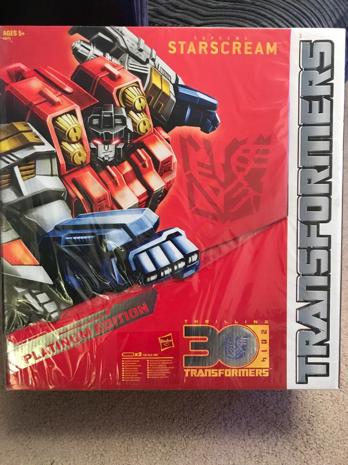 TRANSFORMERS. - YEAR OF THE HORSE - SUPREME STARSCREAM - Brand New   Sealed