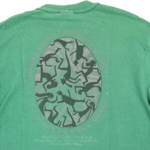 Vtg-90s-Alpha-Chi-Omega-Fraternity-T-Shirt-LARGE-Sun-Wash-Faded-UNC-Chapel-Hill