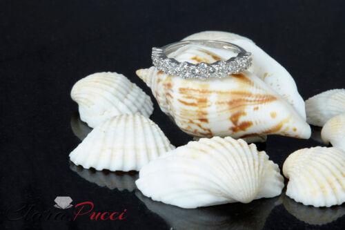 0.9ct Round Cut Designer Bridal Promise Wedding Anniversary Band 14k White Gold