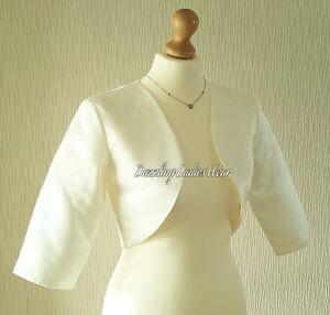 Silver//Grey Satin Bolero Lined Shrug//Jacket//Stole//Shawl//Wrap//Tippet 3//4 Sleeves