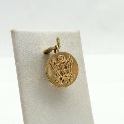14K Gold 3D Army Navy Corporal Captain Hat Charm P