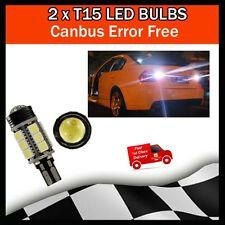 2 x T15 LED Xenon Reverse Bulb White 6000K HID W16W 921 5050 Audi BMW 15SMD COB