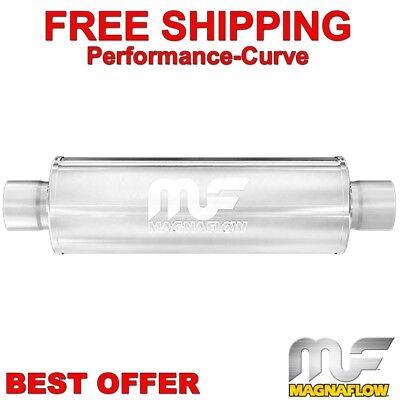"""2.25/"""" O//O 6/"""" Round 14/"""" Body MagnaFlow Muffler SS 12635"""