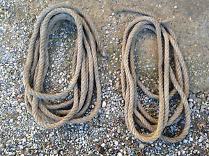 Set-of-2-Antique-Chunky-Strings-of-Type-for-Grimper-with-Rope-Deco-Gym