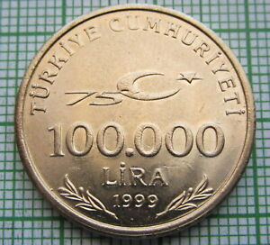 TURKEY-1999-100-000-LIRA-75th-ANNIV-OF-REPUBLIC-MUSTAFA-KEMAL-ATATURK-UNC
