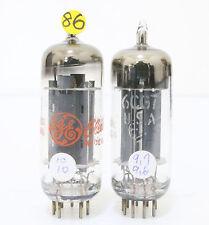 86#  Match 1 pair GE 6CG7 6FQ7 TUBES